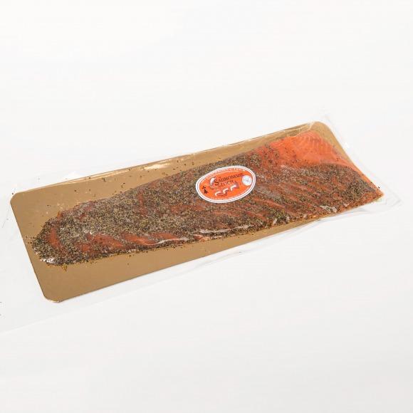 Saumon écosse fumé poivre filet tranché
