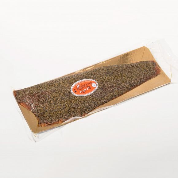 Saumon écosse fumé poivre filet entier