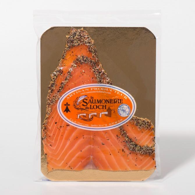 Saumon écosse fumé poivre 2 tranches