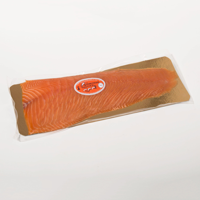 présentation tranche saumon fumé