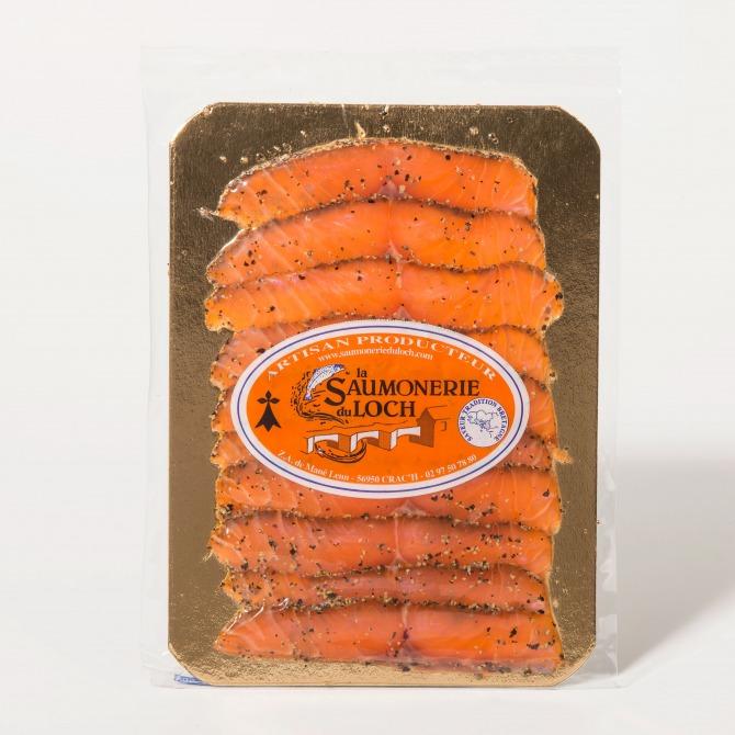 Saumon écosse fumé poivre tranché nordique