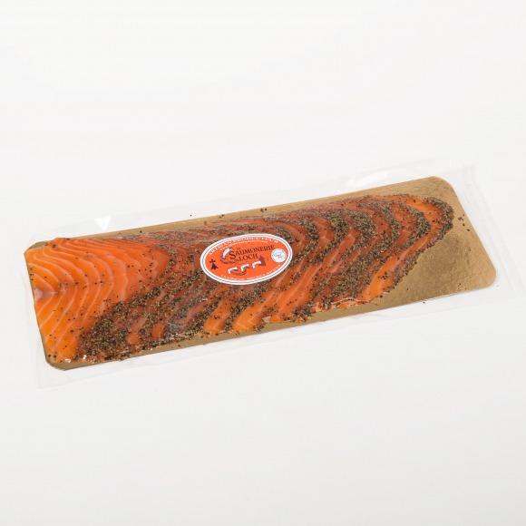 Saumon écosse fumé poivre 12 tranches