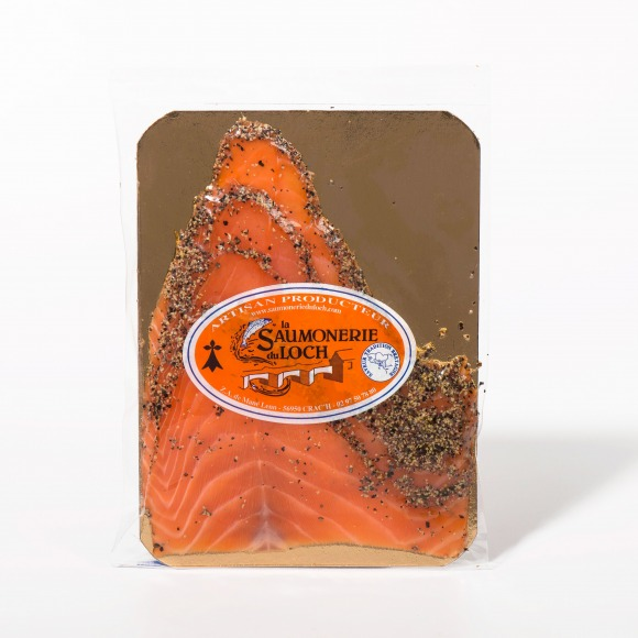 Saumon écosse fumé poivre 4 tranches