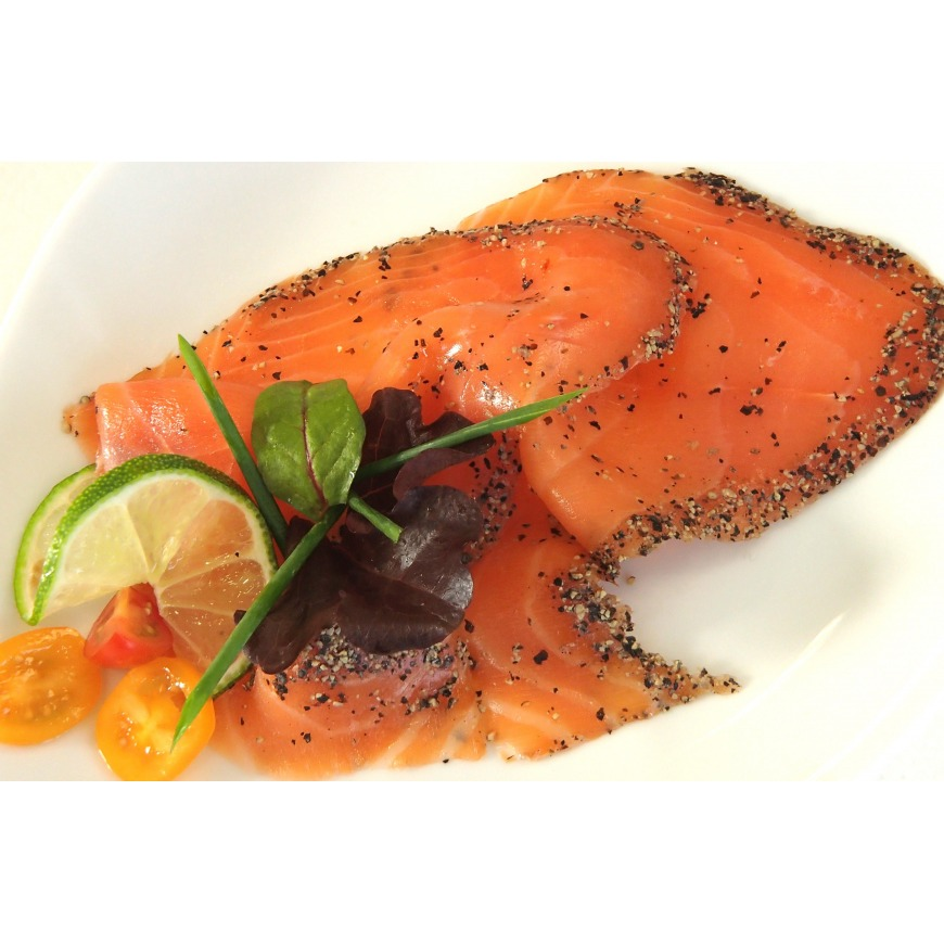 Saumon fumé au poivre Origine frais écosse Label Rouge
